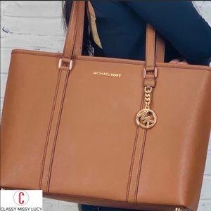 NWT Michael Kors Sady brown laptop bag